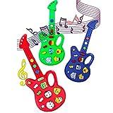 Routefuture Jouet éducatif pour Enfants Pas Cher, Jouets Musicaux Guitare électronique Son de Musique de Développement, Cadeau d'anniversaire Educatif pour Fille et Garçon de 1 2 3 Ans et Plus