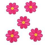 SEVENHOPE 10 Stück Aufbügelbilder Blumen Patches Aufnäher Applikationen Stickerei Rose Blume...