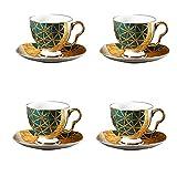 Latte Art Cup Free-Free-Free-Free Cafetería Reutilizable Taza de café, taza de té de cerámica, taza de té y platillo, adecuado para capuchino, café espresso, té de flores y té café Coffee taza grande