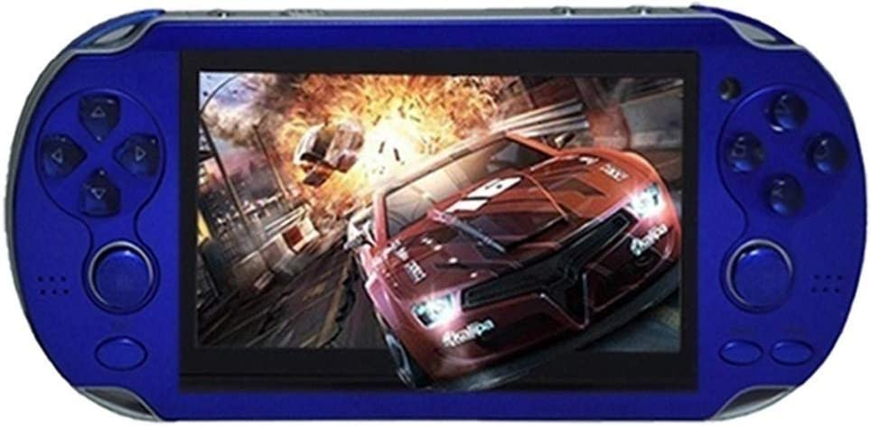 4.3 inch Handheld Game Console 10000+ Free Games 8GB Classic Game Console Multi-Function Video Game Console Video / Music / e-Book (Blue)…