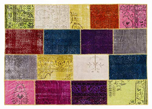 ORIENT PATCHWORK TEPPICH aus echten antiken Orientteppichen in multicolor, Größe: 200x300 cm
