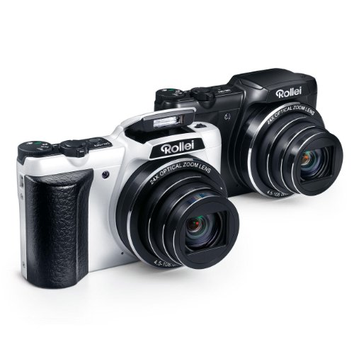 Rollei 240 HD Powerflex Digitalkamera (7,6 cm (3 Zoll) LCD-Display, 16 Megapixel, 24x Opt. Zoom, USB 2.0) weiß
