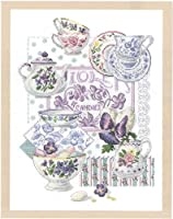 DMC 刺しゅうキット Crockery and Violets BK769