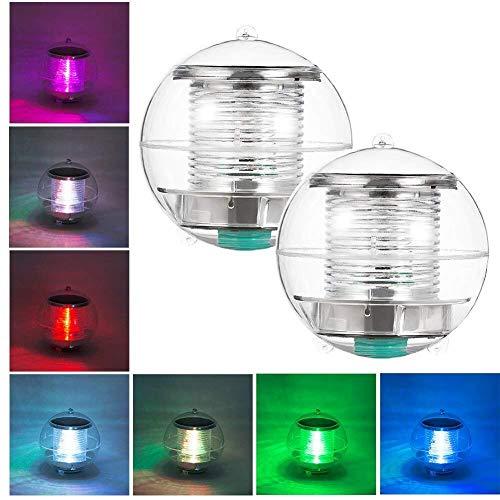 Unterwasser Licht Teichlicht Pool-Licht Pool-Beleuchtung Teichbeleuchtung Schwimmende Lampen Solar Schwimmkugel teichbeleuchtung Multifarbige für Blumenvase, Pool, Teich Dekoration(2 Stück)