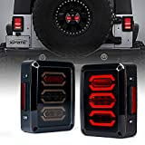 Xprite Led Tail Lights Smoke Lens Red LED Rear Brake Light w/Turn Signal & Back Up Taillight Assembly for 2007-2018...