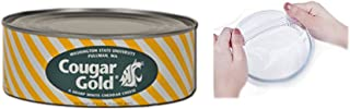Washington State University Cougar Gold Cheese and Topmin Silicone Stretch Lid Bundle
