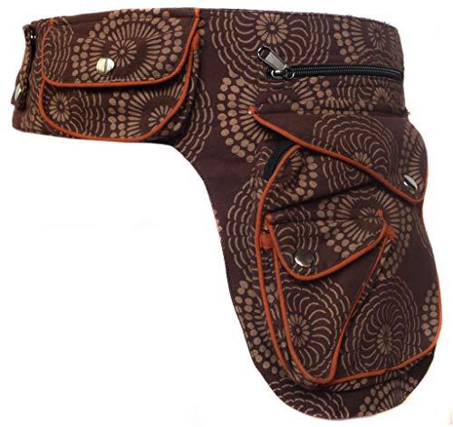 Gheri Cotton Popper Waist Bag Pocket Fanny Pack Travel Pouch Brow