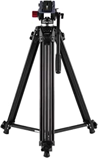 Andoer 71inch 180cm Professional Video Tripod System, Heavy Duty Fluid Drag Pan Tilt Tripod Max Load 17.6lb, Plus Quick Release Plate Great for DSLR Camcorder