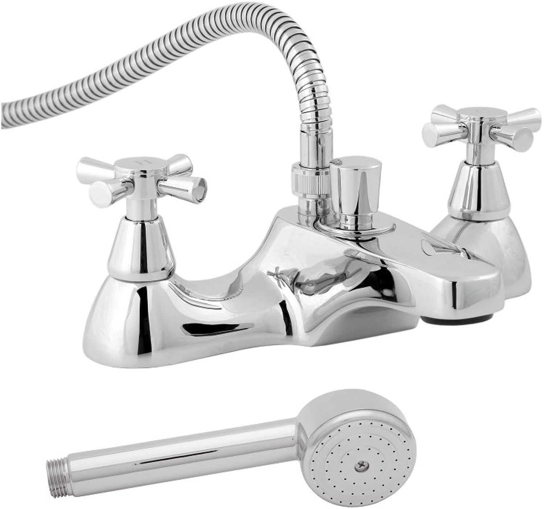 Deva Milan 106 Milan Deck Mounted Bath Shower Mixer Tap with Chrome Finish