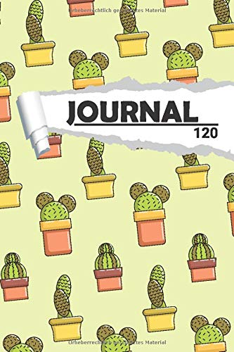 Journal Kaktus Pflanzen: Notizbuch I DIN A5 I 120 Seiten I Dot Grip I Organizer I Tagebuch I Skizzen I Handletter (Abstrakte Muster, Band 1)