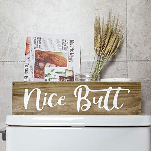 Aphei Nice Butt Badezimmer-Dekoration, Holz, Landhaus-rustikal, Toilettenpapierhalter, witzige süße Toiletten-Aufbewahrungsbox, Braun