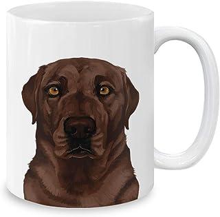 Best MUGBREW Cute Chocolate Brown Labrador Retriever Dog Full Portrait Ceramic Coffee Mug Tea Cup, 11 OZ Review