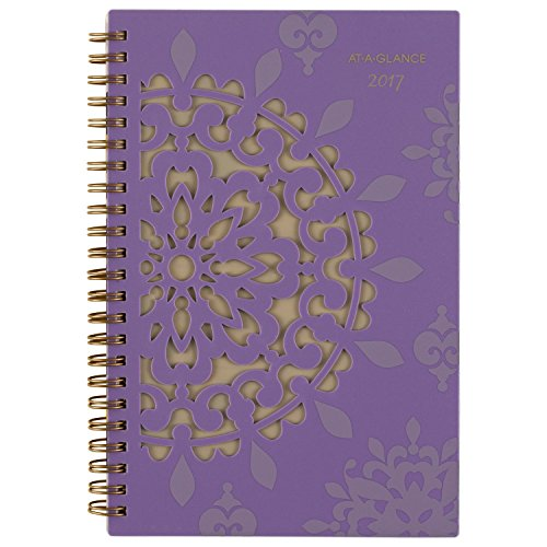 """AT-A-GLANCE Weekly / Monthly Planner / Appointment Book 2017, Desk, 4.88 x 8"""", Vienna (122-200)"""