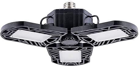 LED Garage Lights, ILAMIQI 50W Adjustable Ceiling Light, E26 Basement Cellar LM6500, Trilights Garage Ceiling Lamp, Deformable Light 6000K,(No Motion Detection)