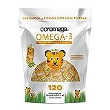 Coromega Kids Omega 3 Fish Oil Supplement, 650mg of Omega-3s, Tropical Orange + Vitamin D, 120 Single Serve Squeeze Packets