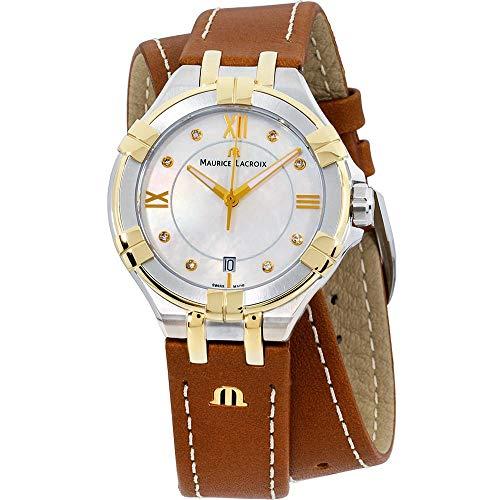 Maurice Lacroix Aikon Damen-Armbanduhr Diamant 35mm Leder AI1006-PVY11-171-1