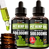 (2-Pack) Natural Hemp Oil for Dogs and Cats with Calming Effect - Hemp Extract Riched in Omega for Immunity, Hip and Joint Health - Made in the USA