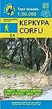 Anavasi 9.4: Corfu / KEPKYPA / Korfu Wanderkarte 1:56.000 ( Griechische Insel, Ionische Insel) mit touristischen Informationen, wasser- und reißfest – Anavasi Maps