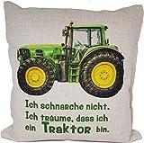 Anti-Schnarch Kissen Traktor Trecker Spruch Ich schnarche nicht Geschenk Geburtstag Landwirt Bauer...