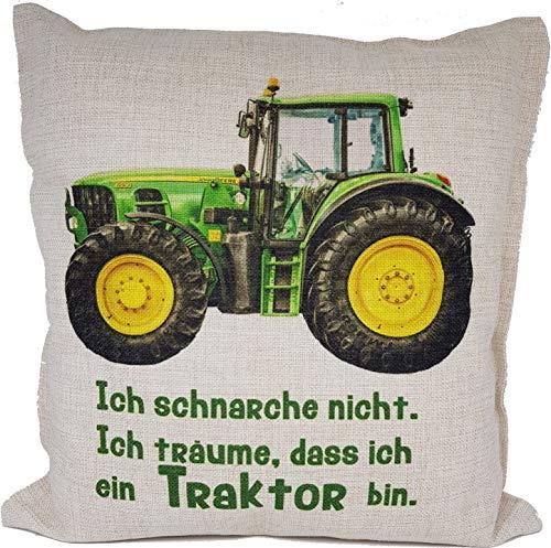 Anti-Schnarch Kissen Traktor Trecker Spruch Ich schnarche nicht Geschenk Geburtstag Landwirt Bauer Schnarchen