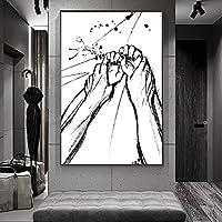 愛好家の手エロティックアートキャンバスポスターと壁アート写真プリント家族のリビングルームのための現代絵画は贈り物を飾る