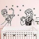 mlpnko Cartoon Prinzessin Wandaufkleber Mädchen