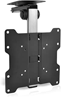 "Universal Folding TV Ceiling Mount - Hide-Away Ceiling Flip Down Tv Mount Bracket - VESA Mount Compatible for 17"" - 37"" TV..."