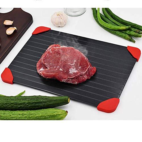 Auftauplatte Auftaubrett für Gefrorene Lebensmittel zum schnellen, natürlichen Auftauen ohne Elektrizität/heißes Wasser Küche Haushalt,mit 4 Silikonfüße+Farbbox Verpackungsbox