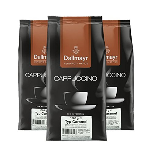 Dallmayr Cappuccino Caramel Vending & Office, 1000g, 3er Pack