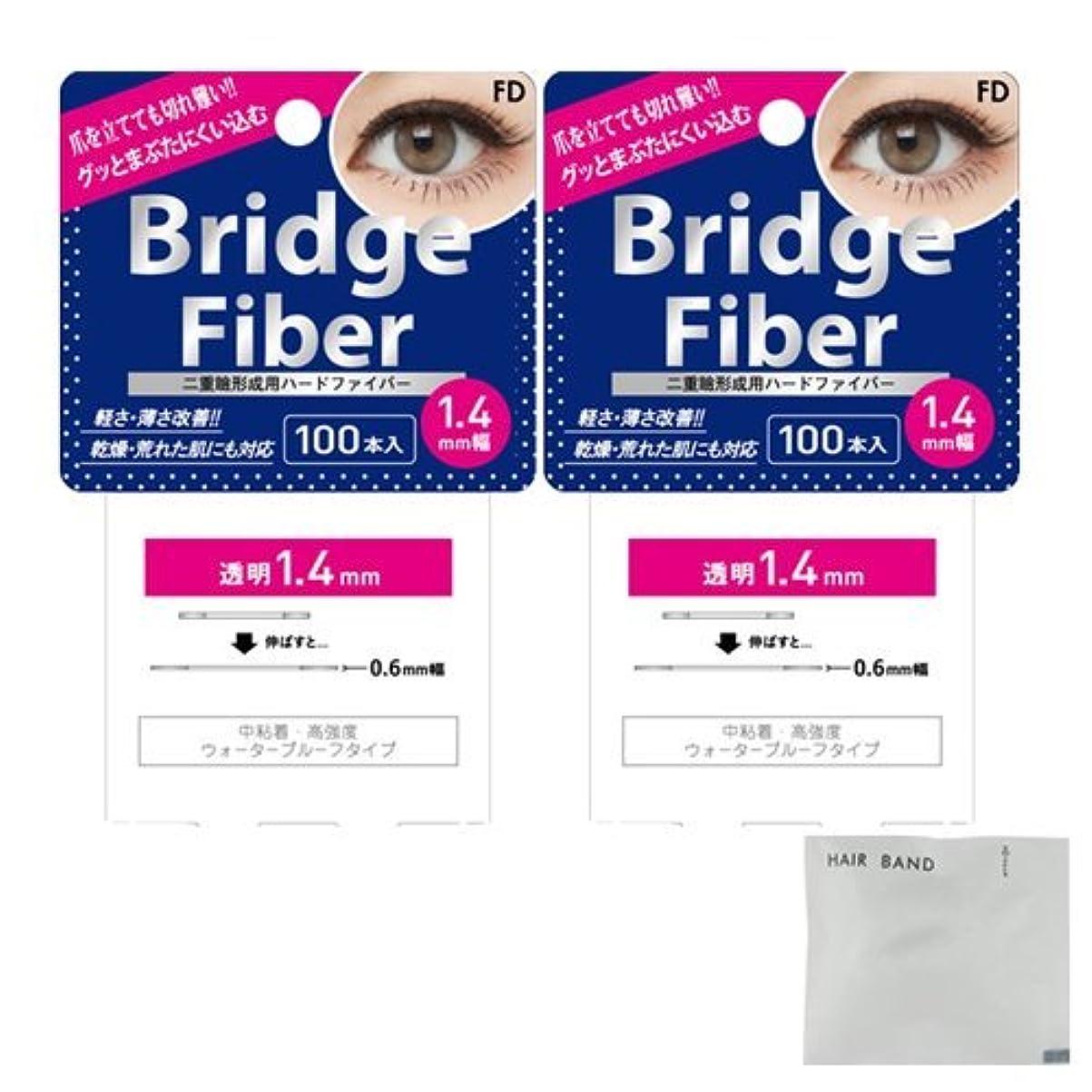 く巨大軽減するFD ブリッジファイバーⅡ (Bridge Fiber) クリア1.4mm×2個 + ヘアゴム(カラーはおまかせ)セット
