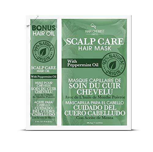 Hair Chemist Masque capillaire pour le cuir chevelu avec huile de menthe poivrée Packette 30 ml (Pack of 4)