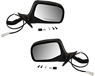Driver and Passenger Power Side View Mirrors Black & Chrome Replacement for Ford SUV Pickup Truck F7TZ17682BAA F7TZ17683BAB