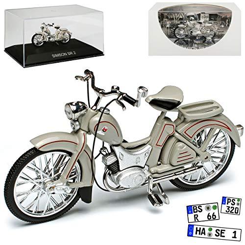 Simson SR2 Grau 1957-1964 DDR 1/24 Ixo Modell Motorrad