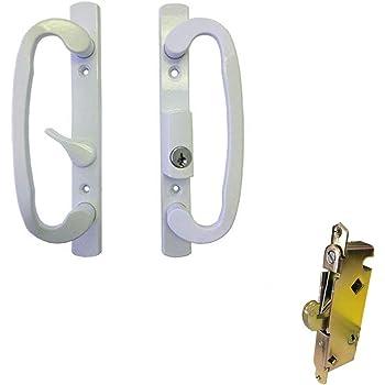 Patio Door Handle Set White Replacement Pd3000white Sliding Glass Door Handle Sets Amazon Com