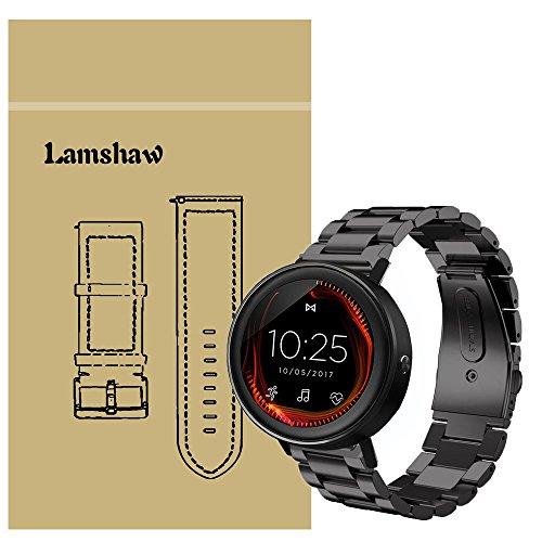 LvBU Kompatibel für Misfit Vapor Ersatzarmband, Classic Edelstahl Uhrenarmband für Misfit Vapor/Misfit Vapor 2 Smartwatch (Schwarz)