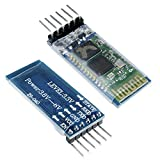 Aideepen 2pcs HC-05 Wireless Bluetooth Serial Transceiver Pass-Through Module Slave and Master 6 Pin Serial Communication for Arduino