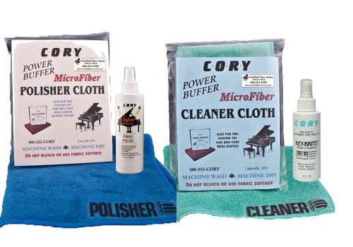 New Cory Super High Gloss Piano Polish Detailing Kit - 2 Ounce Bottles w/Microfiber Cleaning and Pol...