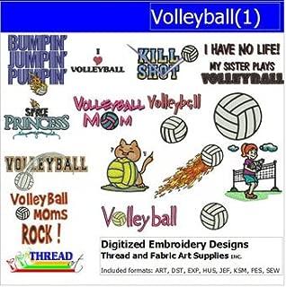 Threadart Machine Embroidery Designs - Volleyball(1) - USB Stick