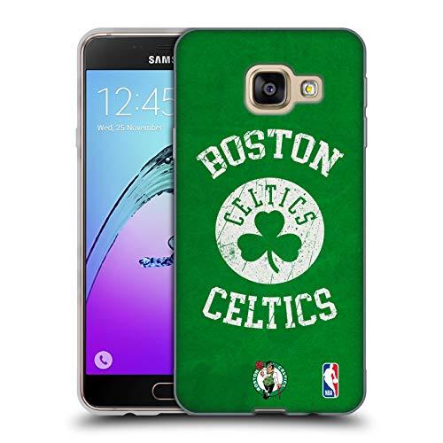 Head Case Designs Ufficiale NBA Aspetto Sdrucito 2019/20 Boston Celtics Cover in Morbido Gel Compatibile con Samsung Galaxy A3 (2016)