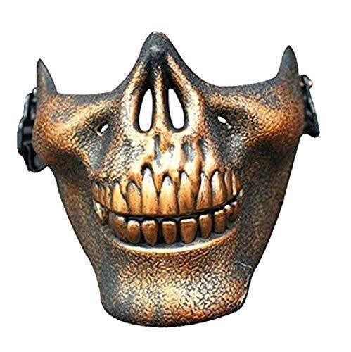 KIRALOVE Máscara de Bronce - Esqueleto - CS - Counter Strike - ejército - Disfraces - Halloween - Carnaval - Militar - Idea de Regalo Original Counter Strike Army