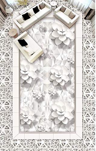Fotobehang muurschildering Vloer Dolfijn Op maat foto Zelfklevende 3D Vloer 3D Stereoscopische Behang Vloer Huisdecoratie 400cm(L) x280cm(W)