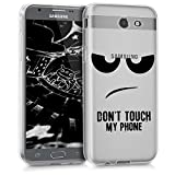 kwmobile Hülle kompatibel mit Samsung Galaxy J3 (2017) DUOS - Hülle Handy - Handyhülle - Don't Touch My Phone Schwarz Transparent