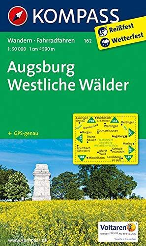 Augsburg - Westliche Wälder: Wanderkarte mit Radrouten. GPS-genau. 1:50000 (KOMPASS-Wanderkarten, Band 162)