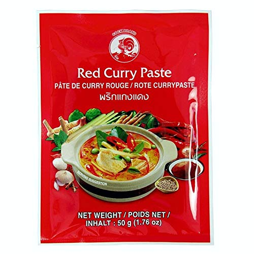 COCK 4 pastas de curry diferentes por 50 g [Rojo, Amarillo, Verde, Panang]