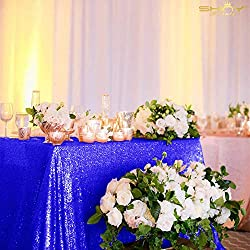 Royal Blue Rectangular Sequin Tablecloth