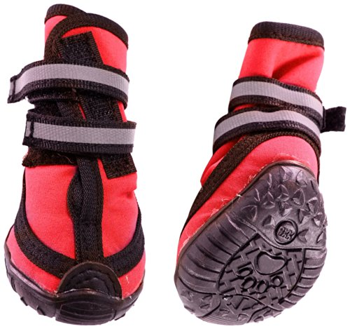 Fashion Pet Performance Waterproof Dog Boots, X-Small, Red
