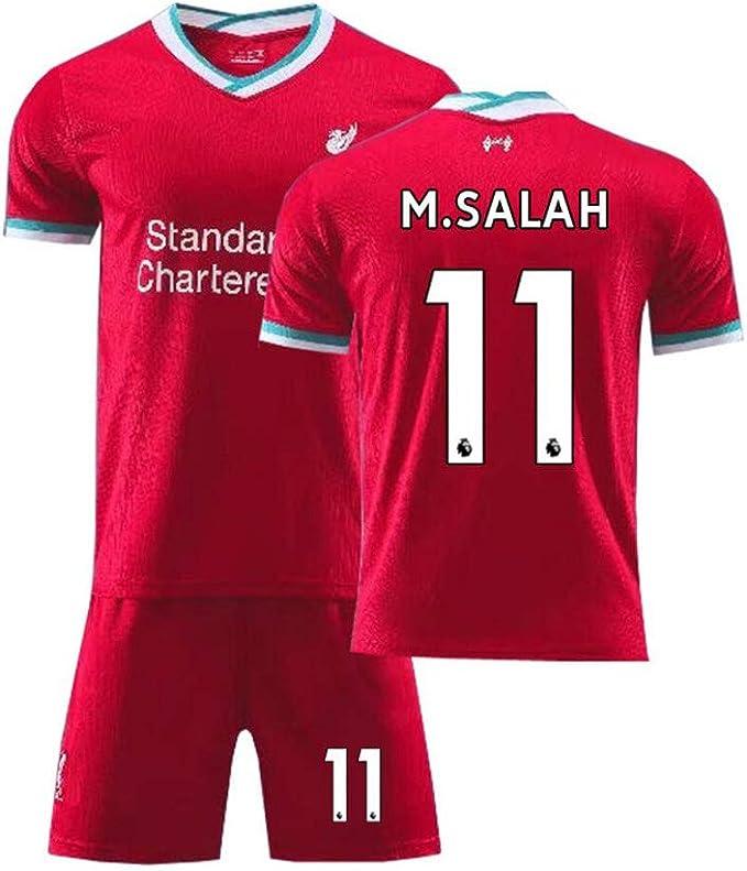 LCHENX-Set di Maglie da Calcio di Liverpool Football Team # 11 Mohamed Salah Fans per Uomini Ragazzi