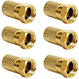 50 conectores F de 7 mm con junta de goma para cable coaxial, cable coaxial de antena de satélite, cable coaxial de satélite, fuerte