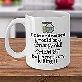 Tazza da caffè farmacisti medici regalo brontoloso vecchio chimico chimico scherzo farmacista pensionamento scherzo regalo farmacia laurea professore regalo 12oz