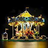 BRIKSMAX Led Lighting Kit for New Carousel Set- Compatible with Lego 10257 Building Blocks Model- Not Include The Lego Set